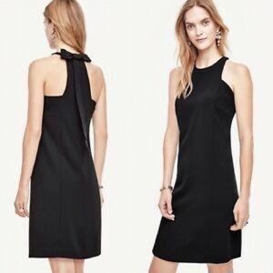 Ann Taylor Sz 10 Bow Back Dress Black